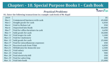 Q 01 CH 8 USHA 1 Book 2020 Solution min 360x203 - Chapter No. 8 - Cash Book - USHA Publication Class +1 - Solution