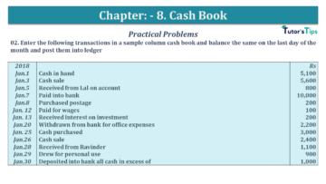Q 02 CH 8 USHA 1 Book 2020 Solution min 360x203 - Chapter No. 8 - Cash Book - USHA Publication Class +1 - Solution
