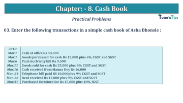 Q 03 CH 8 USHA 1 Book 2020 Solution min 360x203 - Chapter No. 8 - Cash Book - USHA Publication Class +1 - Solution