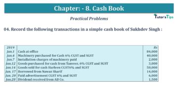 Q 04 CH 8 USHA 1 Book 2020 Solution min 360x203 - Chapter No. 8 - Cash Book - USHA Publication Class +1 - Solution
