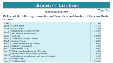 Q 05 CH 8 USHA 1 Book 2020 Solution min 360x203 - Chapter No. 8 - Cash Book - USHA Publication Class +1 - Solution