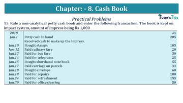 Q 15 CH 8 USHA 1 Book 2020 Solution min 360x203 - Chapter No. 8 - Cash Book - USHA Publication Class +1 - Solution