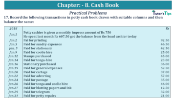 Q 17 CH 8 USHA 1 Book 2020 Solution min 360x203 - Chapter No. 8 - Cash Book - USHA Publication Class +1 - Solution