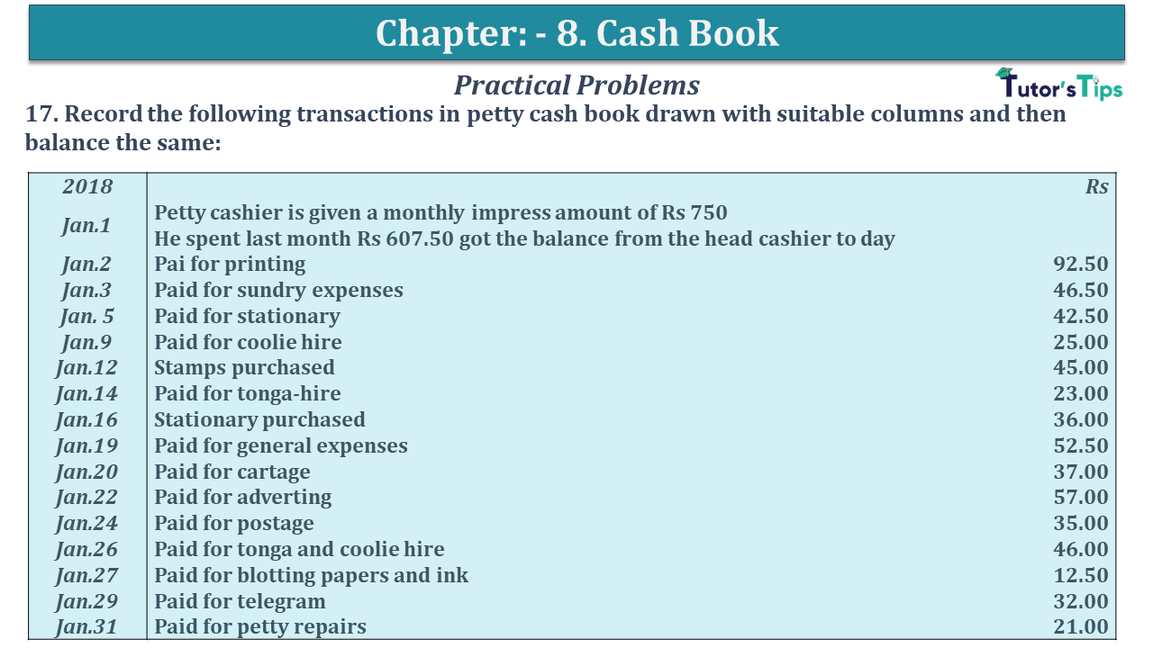 Question No 17 Chapter No 8