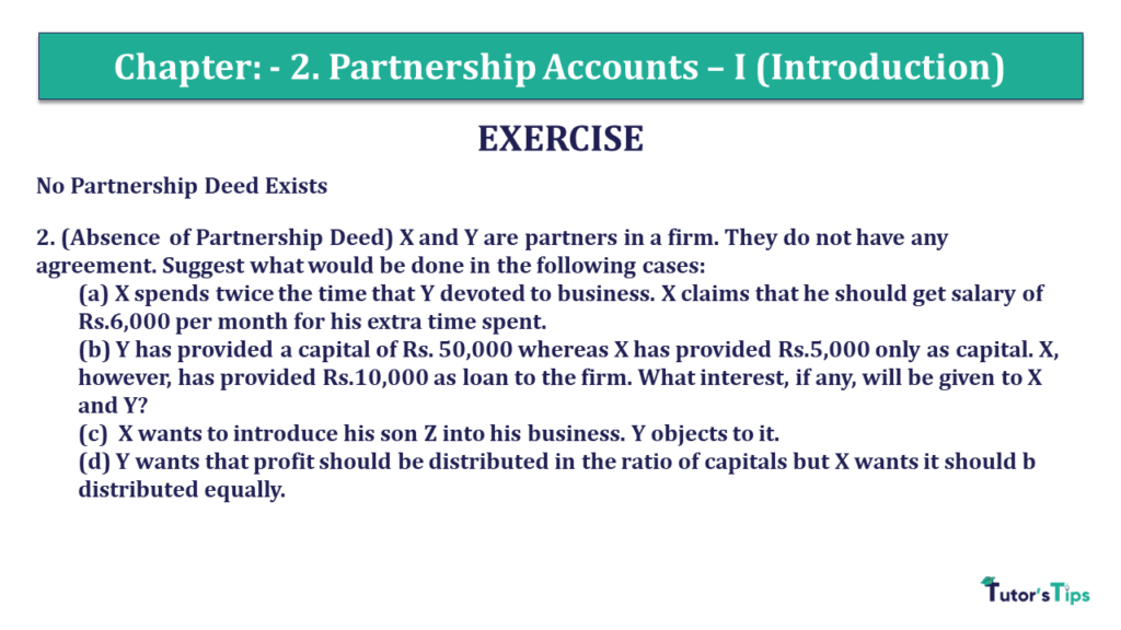 Question 02 Chapter 2 of +2- Part-