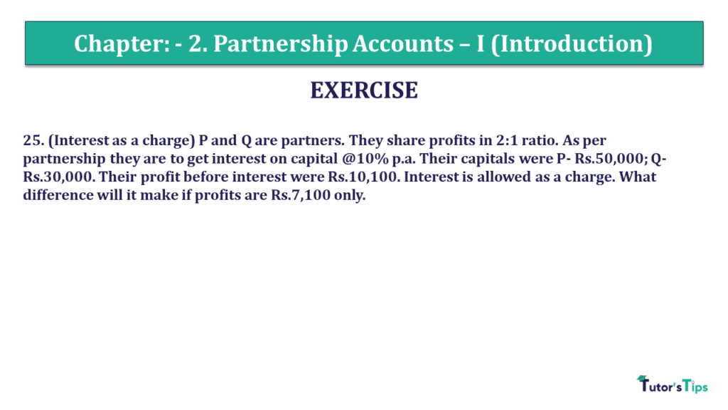 Question 25 Chapter 2 of +2- Part-