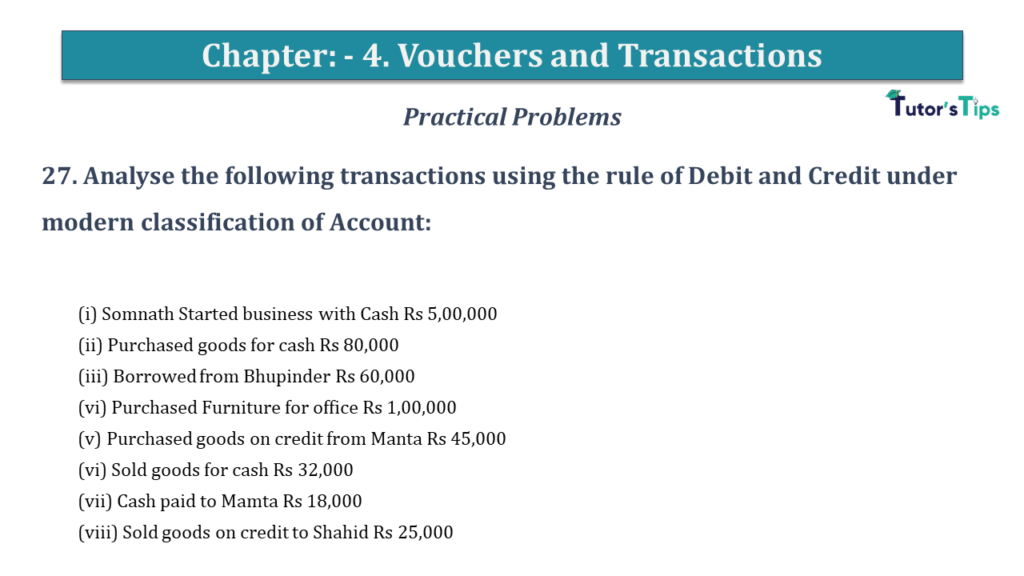 Question No 27 Chapter No 4