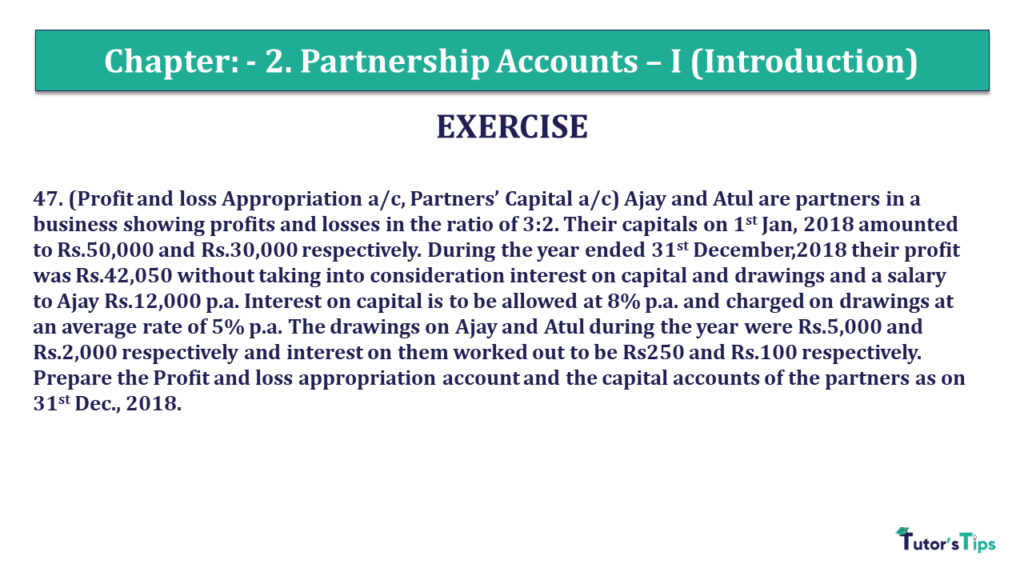 Question 47 Chapter 2 of +2- Part-