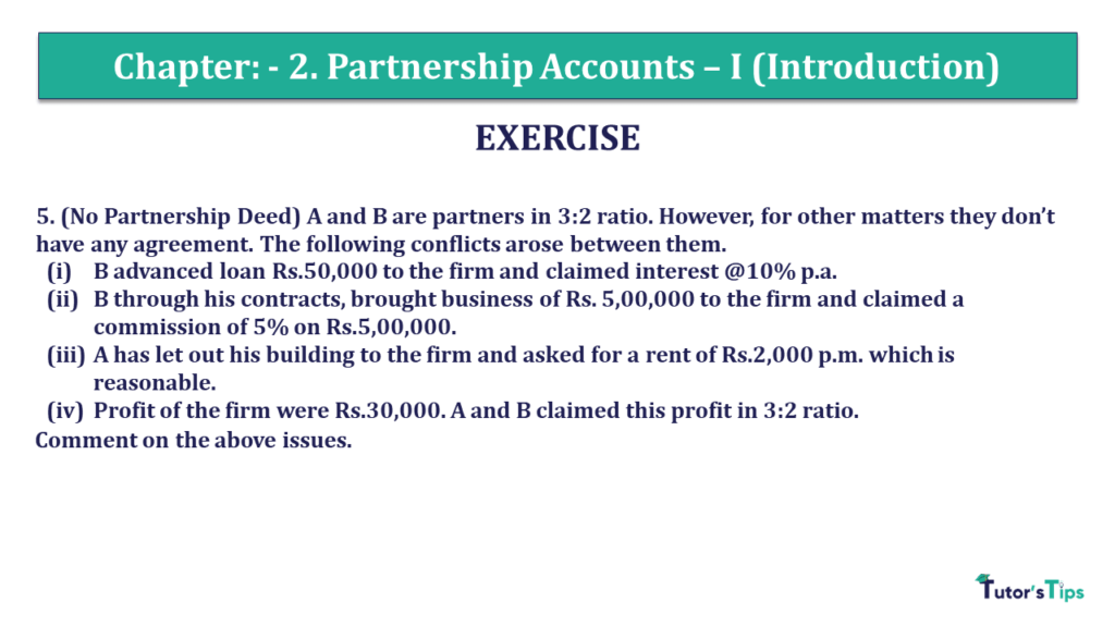 Question 05 Chapter 2 of +2- Part-
