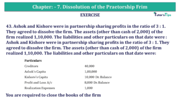 Question No.43 Chapter No.7 T.S. Grewal 2 Book 2019 Solution min min 360x203 - Chapter No. 7 - Dissolution of a Partnership Firm - Solution - Class 12