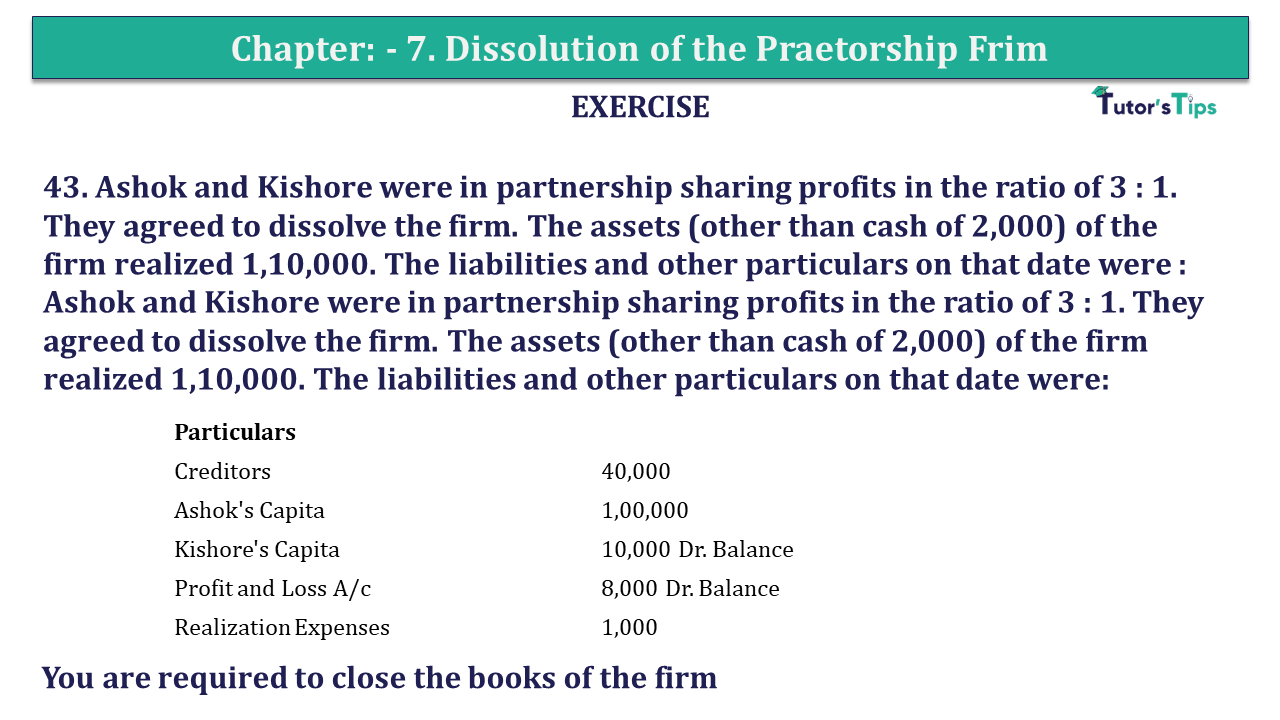 Question 43 Chapter 7of +2-A