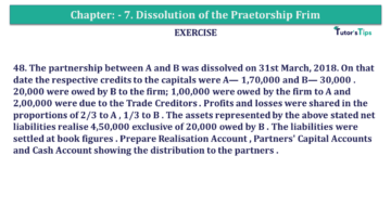 Question No.48 Chapter No.7 T.S. Grewal 2 Book 2019 Solution min min 360x203 - Chapter No. 7 - Dissolution of a Partnership Firm - Solution - Class 12