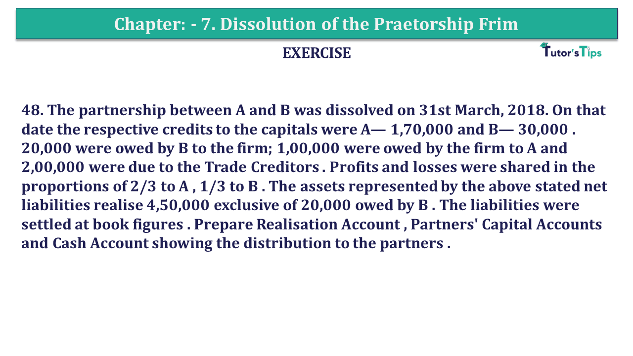 Question 48 Chapter 7of +2-A
