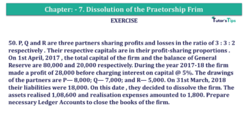 Question No.50 Chapter No.7 T.S. Grewal 2 Book 2019 Solution min min 1 360x203 - Chapter No. 7 - Dissolution of a Partnership Firm - Solution - Class 12