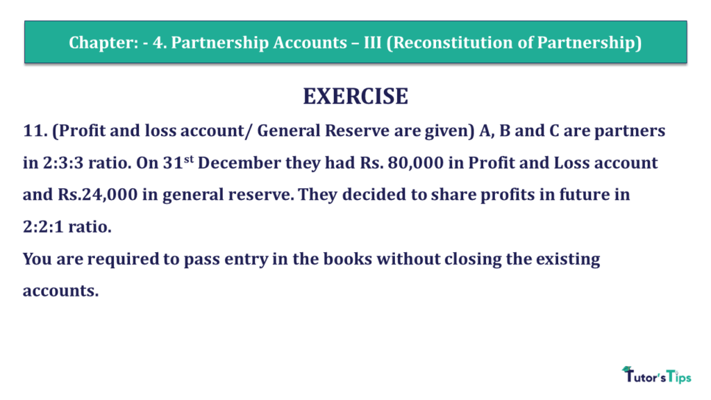 Question 11 Chapter 4 of +2- Part-