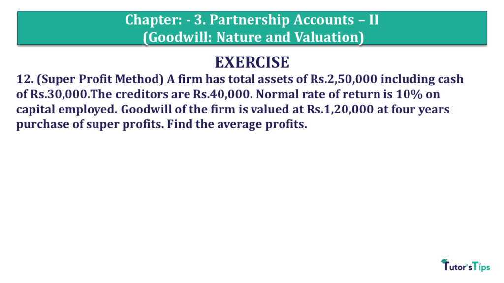 Question 12 Chapter 3 of +2- Part-