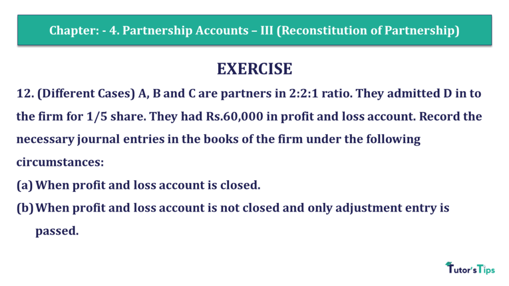 Question 12 Chapter 4 of +2- Part-