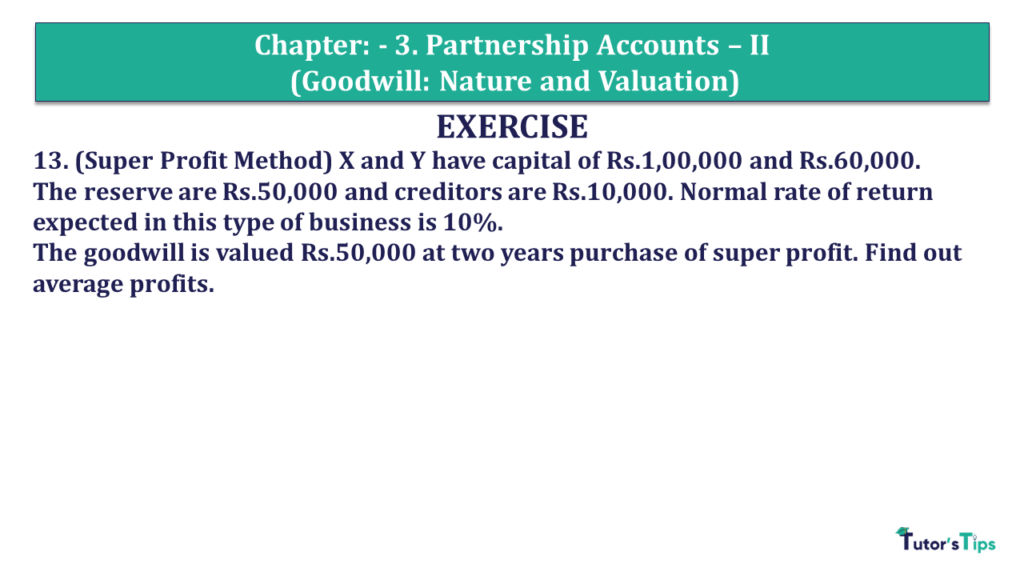 Question 13 Chapter 3 of +2- Part-