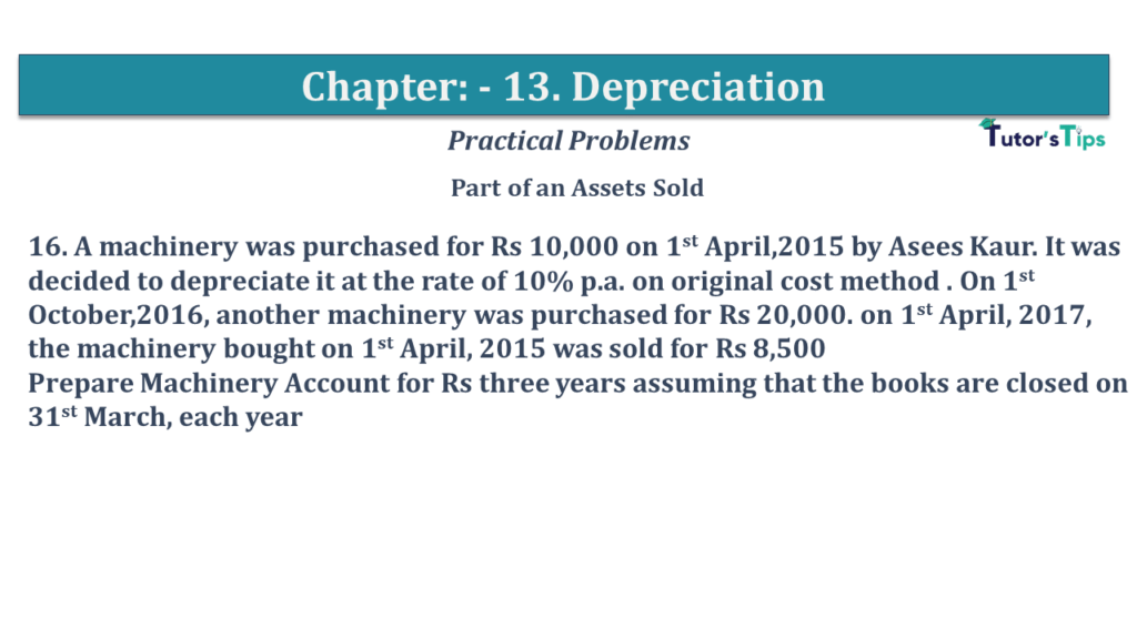 Question No 16 Chapter No 13