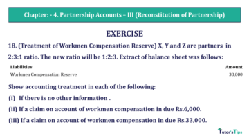 Q 18 CH 4 Usha 2 Book 2018 Solution min 360x203 - Chapter No. 4 - Partnership Accounts - III (Reconstitution of Partnership)- USHA Publication Class +2 - Solution