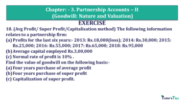 Q 19 CH 3 Usha 2 Book 2018 Solution min 360x203 - Chapter No. 3 - Partnership Accounts - II (Goodwill: Nature and Valuation)- USHA Publication Class +2 - Solution
