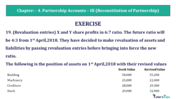 Q 19 CH 4 Usha 2 Book 2018 Solution min 360x203 - Chapter No. 4 - Partnership Accounts - III (Reconstitution of Partnership)- USHA Publication Class +2 - Solution