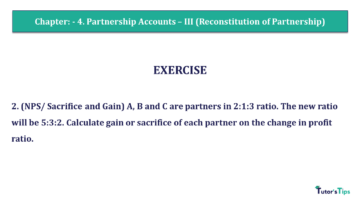 Q 2 CH 4 Usha 2 Book 2018 Solution min 360x203 - Chapter No. 4 - Partnership Accounts - III (Reconstitution of Partnership)- USHA Publication Class +2 - Solution