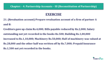 Q 21 CH 4 Usha 2 Book 2018 Solution min 360x203 - Chapter No. 4 - Partnership Accounts - III (Reconstitution of Partnership)- USHA Publication Class +2 - Solution
