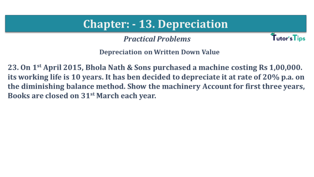 Question No 23 Chapter No 13