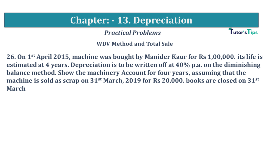 Question No 26 Chapter No 13