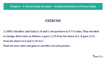 Q 3 CH 4 Usha 2 Book 2018 Solution min 360x203 - Chapter No. 4 - Partnership Accounts - III (Reconstitution of Partnership)- USHA Publication Class +2 - Solution