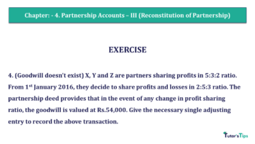 Q 4 CH 4 Usha 2 Book 2018 Solution min 360x203 - Chapter No. 4 - Partnership Accounts - III (Reconstitution of Partnership)- USHA Publication Class +2 - Solution