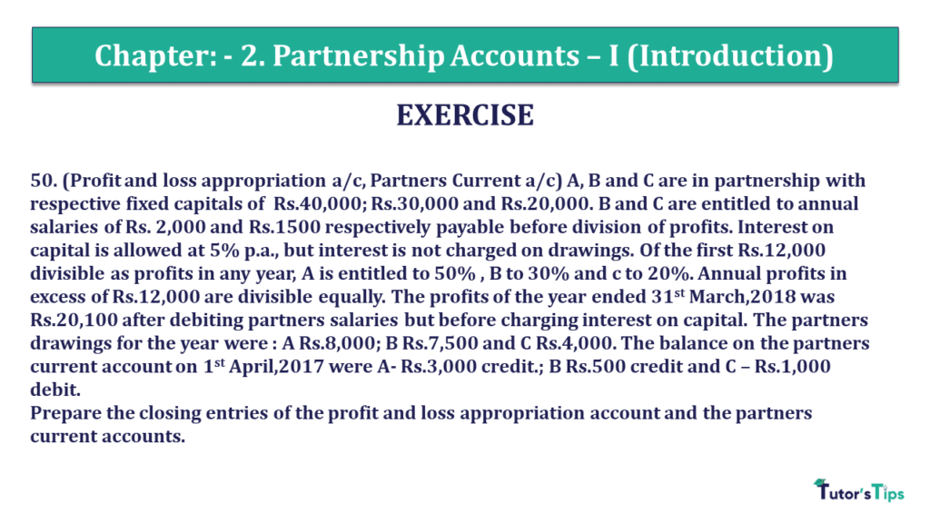 Question 50 Chapter 2 of +2- Part-