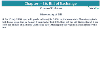 Q 08 CH 15 USHA 1 Book 2020 Solution min 360x203 - Chapter No. 15 - Bills of Exchange - USHA Publication Class +1 - Solution