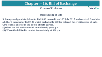 Q 09 CH 15 USHA 1 Book 2020 Solution min 360x203 - Chapter No. 15 - Bills of Exchange - USHA Publication Class +1 - Solution
