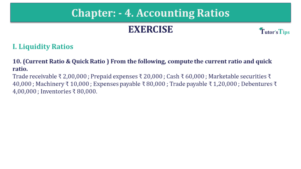 Question 10 Chapter 4 of +2-B