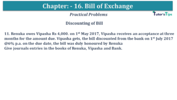 Q 11 CH 15 USHA 1 Book 2020 Solution min 360x203 - Chapter No. 15 - Bills of Exchange - USHA Publication Class +1 - Solution