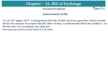 Q 13 CH 15 USHA 1 Book 2020 Solution min 360x203 - Chapter No. 15 - Bills of Exchange - USHA Publication Class +1 - Solution