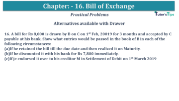 Q 16 CH 15 USHA 1 Book 2020 Solution min 360x203 - Chapter No. 15 - Bills of Exchange - USHA Publication Class +1 - Solution