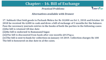 Q 17 CH 15 USHA 1 Book 2020 Solution min 360x203 - Chapter No. 15 - Bills of Exchange - USHA Publication Class +1 - Solution