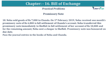 Q 18 CH 15 USHA 1 Book 2020 Solution min 360x203 - Chapter No. 15 - Bills of Exchange - USHA Publication Class +1 - Solution