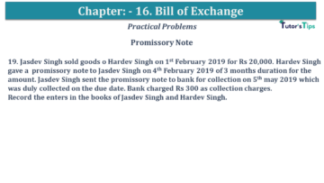 Q 19 CH 15 USHA 1 Book 2020 Solution min 360x203 - Chapter No. 15 - Bills of Exchange - USHA Publication Class +1 - Solution