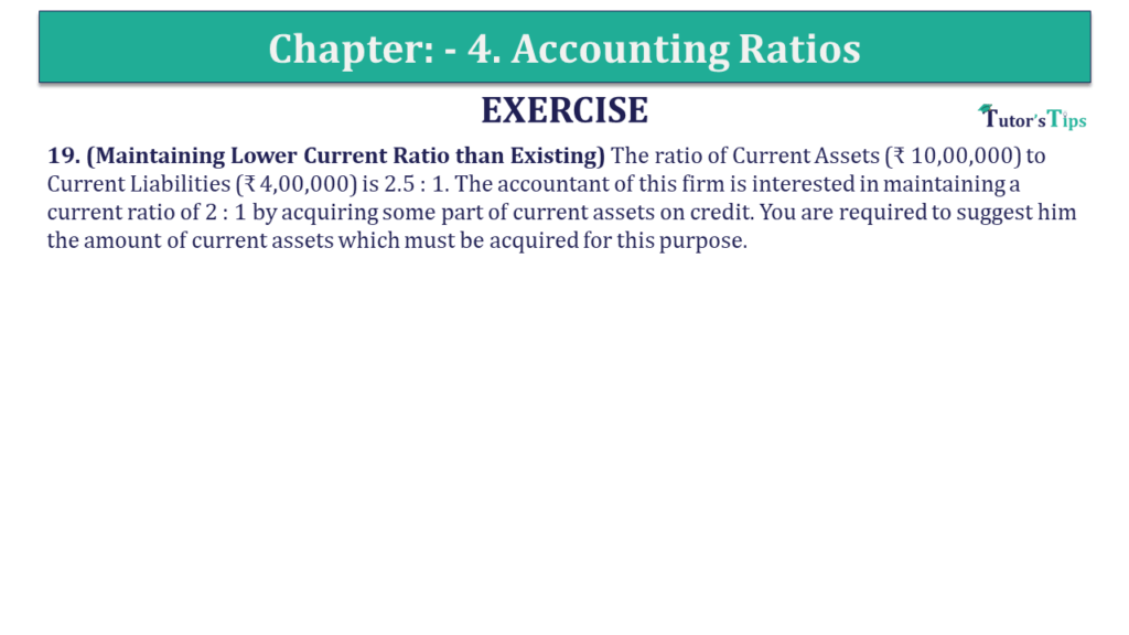 Question 19 Chapter 4 of +2-B
