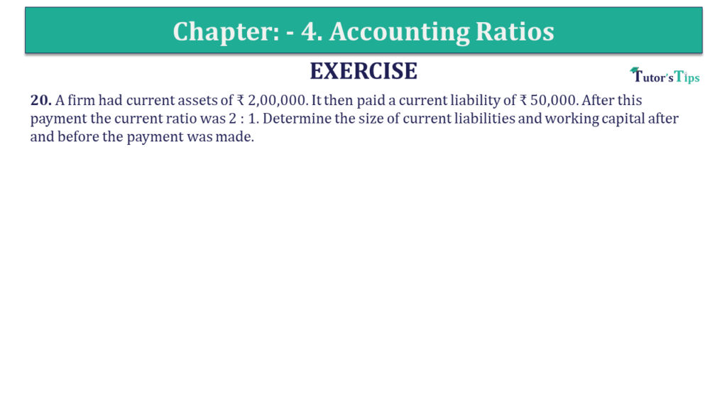 Question 20 Chapter 4 of +2-B