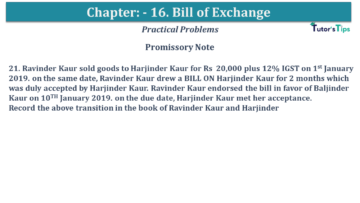 Q 21 CH 15 USHA 1 Book 2020 Solution min 360x203 - Chapter No. 15 - Bills of Exchange - USHA Publication Class +1 - Solution