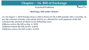 Q 22 CH 15 USHA 1 Book 2020 Solution min 360x203 - Chapter No. 15 - Bills of Exchange - USHA Publication Class +1 - Solution