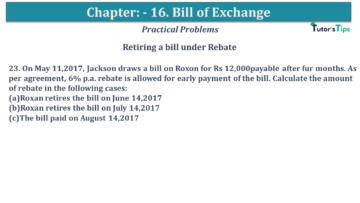 Q 23 CH 15 USHA 1 Book 2020 Solution min 360x203 - Chapter No. 15 - Bills of Exchange - USHA Publication Class +1 - Solution