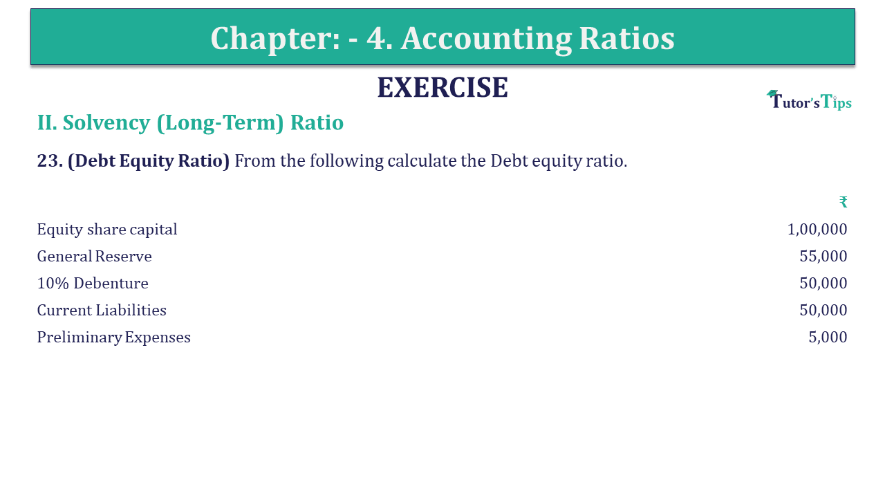 Question 23 Chapter 4 of +2-B