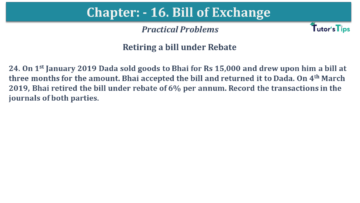 Q 24 CH 15 USHA 1 Book 2020 Solution min 360x203 - Chapter No. 15 - Bills of Exchange - USHA Publication Class +1 - Solution