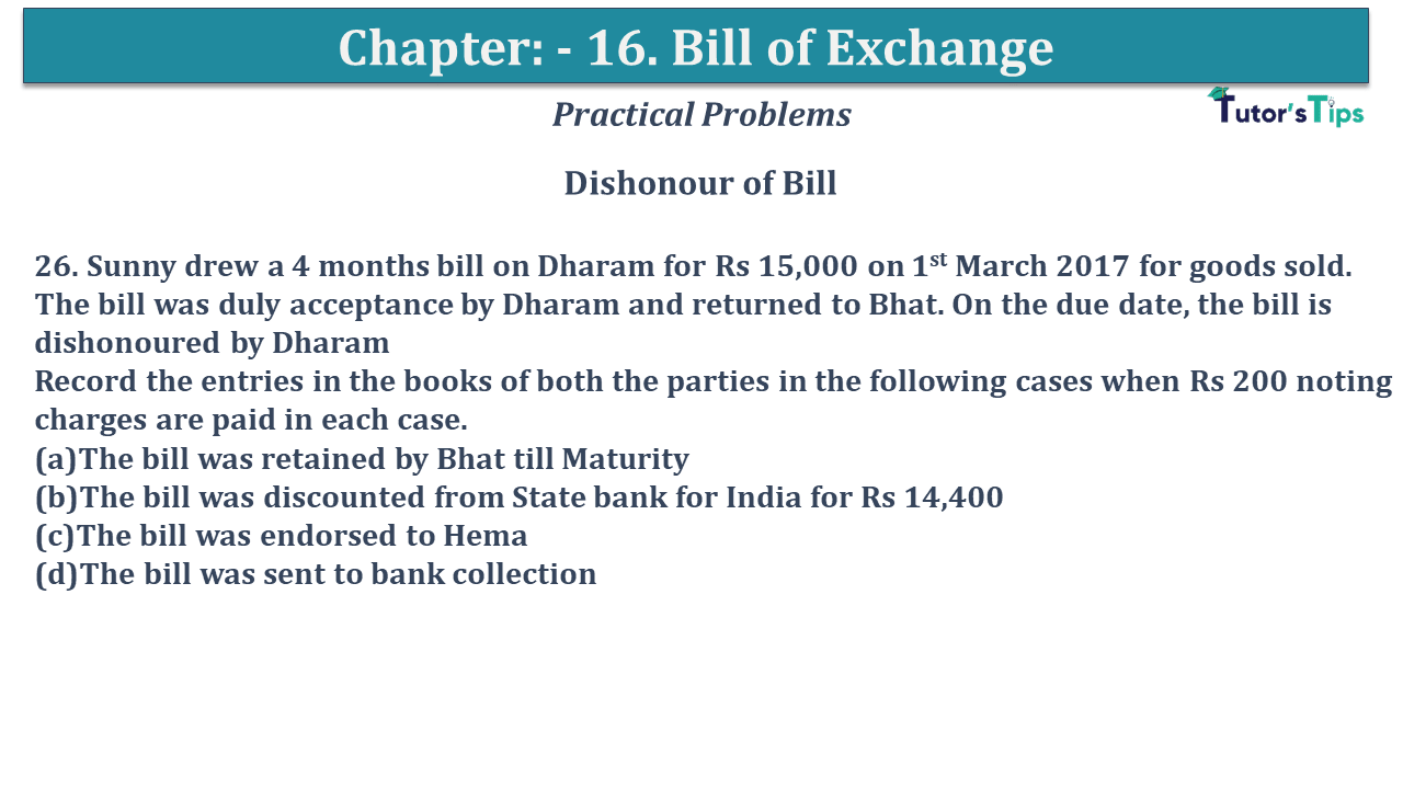 Question No 26 Chapter No 15